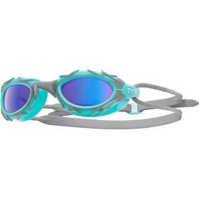 TYR Nest Pro Nano Goggles Gemetalliseerd, blue/mint